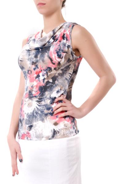 Трикотажна блуза без ръкави